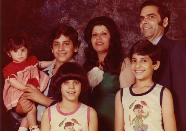 Parvin-Khanom and Abdol-Rasool Shams with their children Mehdi, Maryam